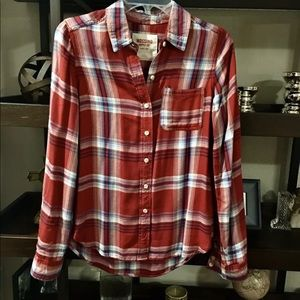 Old Navy plaid top - Small